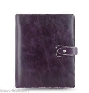 Filofax Malden Organizer A5 Purple 025851 2018 Diary 100 Leather