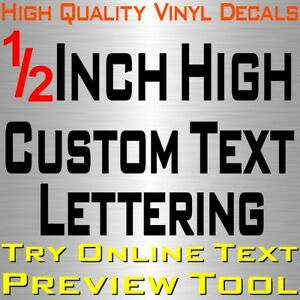 Personalized 1 2 Custom Text Name Vinyl Decal Sticker Car Wall 16x Lettering