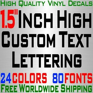 Personalized 1 5 Custom Text Name Vinyl Decal Sticker Car Wall 16x Lettering