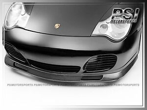 Aero Carbon Fiber Front Bumper Lip For 01 05 Porsche 911 996 Turbo Carrera 4s Cf