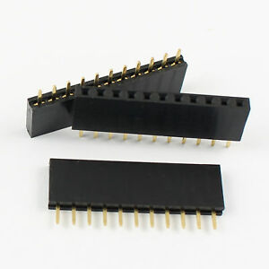 300pcs 2 54mm Pitch 1x11 Pin 11 Pin Female Single Row Straight Header Strip