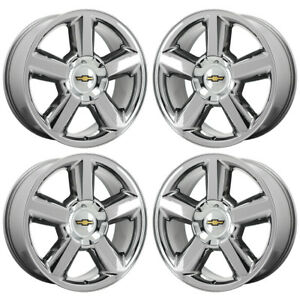 20 Silverado Tahoe 1500 Truck Pvd Chrome Wheels Rims Factory Oem Gm Set 4 5308