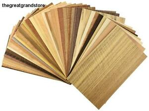 Unbacked Real Wood Veneer Variety Pack Marquetry Inlay Starter Kit Sheet Size