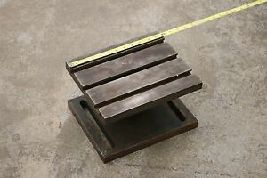 12 X 10 X 7 1 4 Machinist Adjustable Angle Plate Table Casting Mill Milling