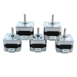 5x Nema 17 12v Stepper Motors Kit 0 4a 2 Phase For Cnc Mill Robot Us Shipping