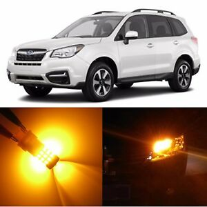 Alla Lighting Front Signal Light Amber Led Bulbs For 10 17 Subaru Legacy Outback