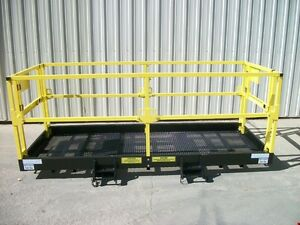 4 X 10 Work Platform 42 High Guard Rails Dual Gates 7 75x3 Fork Pocket