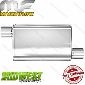 Magnaflow Stainless Steel 2 5 Offset In 2 5 Offset Out Multi chamber Muffler