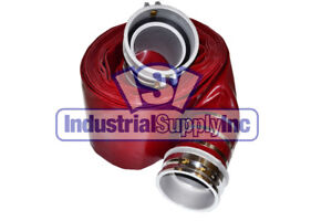 6 X 50ft Red Water Discharge Hose Camlocks