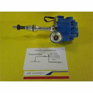Ford 289 302 Small Block Cnc Hei Distributor W50k Coil Blue Cap Sbf 1 Wire