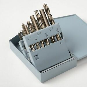 New Professional 18pc Unf Tap And Hss Drill Bit Set