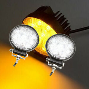 5 Inch 2pc 27w Round Cree Led Fog Work Light Amber Offroad Driving Suv Ute Van