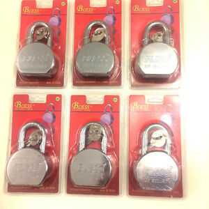 Heavy Duty Lot Of 6 Pcs 65mm Steel Ball Pad Lock Heavy Duty Garage Warehouse