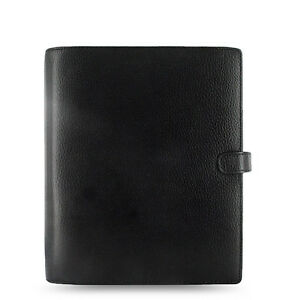 Filofax A5 Finsbury Leather Organizer Black Leather 025368 2018 Diary