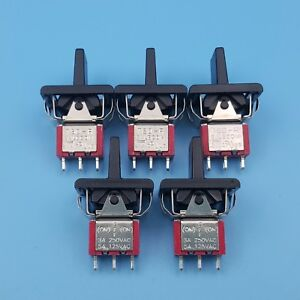 5pcs Sh R8016a p14 3pin Momentary Mom off mom Spdt Mini Paddle Toggle Switch