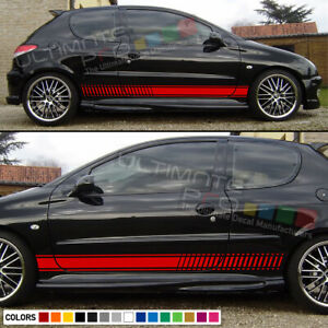 Decal Sticker Graphic Stripe Kit For Peugeot 206 Cc Gti Tune Bumper Lip Carbon