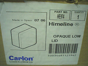 Nib Carlon Himeline 8 1 2 X 6 Opaque Low Lid He974 60 Day Warranty