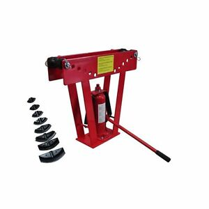 16 Ton Heavy Duty Hydraulic Pipe Bender Tubing Exhaust Tube Bending W 8 Dies