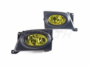 Fog Lights Yellow Pair Wiring Kit Included For 2006 2008 Honda Civic 4dr