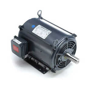 7 5 Hp 1760 Rpm 213t Fr 208 230 460 Volts Open Drip Leeson Electric Motor