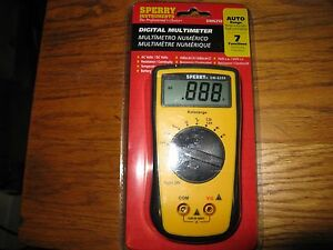 Sperry Digital Multimeter Dm6250 Auto Range 7 Functions new sealed