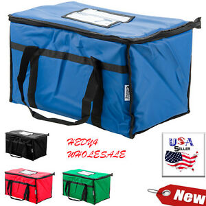 Vinyl Insulated Food Delivery Bag Pan Carrier 4 Color Options Fast Shipping