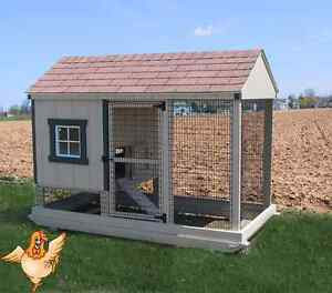 Chicken Coop Amish Pa Dutch Built Custom Pen Poultry Farm Shed Hen W Nest House