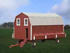 Portable Chicken Barn Wagon Gear Coop Hen House Amish Custom Handmade Lancaster