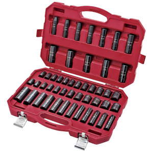 Craftsman 48 Pc Laser Impact Deep Socket Accessory Set 1 2 Inch Metric 48 Piece