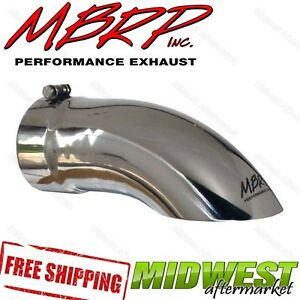 T5085 Mbrp Stainless Steel Exhaust Turn Down Tip 5 Inlet 5 Outlet 14 Long