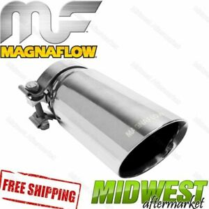35211 Magnaflow Exhaust Tip Clamp On Double Wall 3 Inlet 3 5 Outlet 9 5 Long