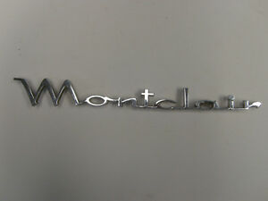 1964 Mercury Montclaire Emblem Badge Script Trim Chrome Vintage Sign Metal Race