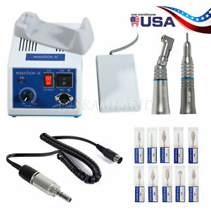 Dental Lab Marathon Handpiece 35k Rpm Electric Micromotor Polishing 10 Burs Usa