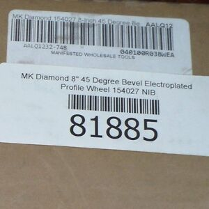 Mk Diamond 154027 8 45 Degree Bevel Electroplated Profile Wheel New