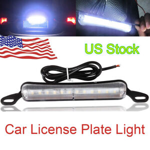 Universal Xenon White 12 Smd Bolt On Led License Plate Light Lamp For Car