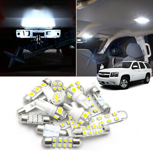 For Chevy Tahoe 2000 2006 Led Bulbs Interior License Plate Lights Pkg Kit 15x