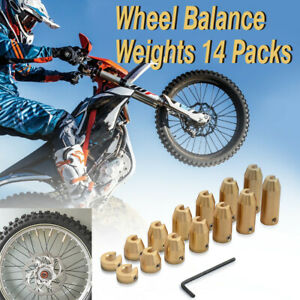New Motorcycle 14 Pack Reusable Brass Wheel Spoke Balance Weights Refill Kits