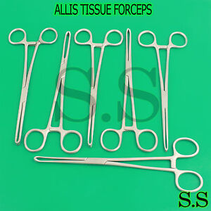 6 Allis Tissue Forcep 9 5 5x6 Teeth Surgical Instrumets