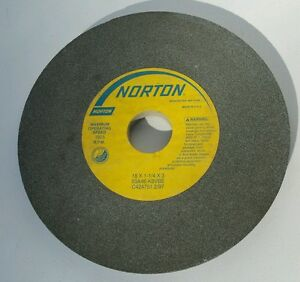 New Norton 18x1 1 4x3 1805 Rpm Grinder Grinding Wheel 53a46 k8vbe C424751 2 97