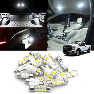 For Ford F 150 F150 F250 2009 2015 Interior Tag Led Light Bulbs Package Kit 10