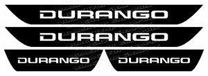 Dodge Durango Vinyl Door Sill Decals 2011 2012 2013 2014 2015 2016 2017