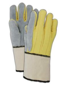 Magid K40g 20 Oz Kevlar Hot Mill Gloves With Band Top Cuff 12 Pair