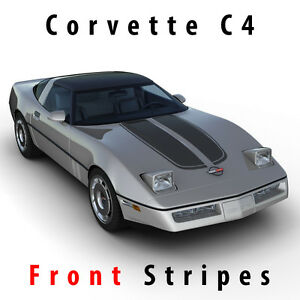 Chevrolet Corvette C4 Sport Front Hood Racing Stripes Decal Pre Cut 1984 1996