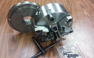 8 6 jaw Self centering Lathe Chuck W Top bottom Jaws W 2 1 4 8 Adapter new