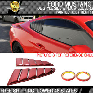 For 15 21 Ford Mustang Oe Style Paint Ruby Red Side Rr Window Louvers