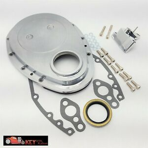 Polished Aluminum Small Block Chevy Timing Chain Cover Tab Sbc 350 305 400 327