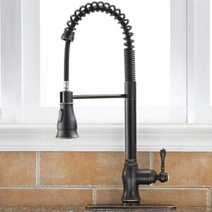 Commercial Pull Down Kitchen Sink Faucet Brass Lock Spray Oil Rubbed Bronze Tap