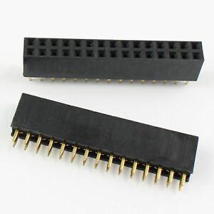 400pcs 2 54mm Pitch 2x15 Pin 30 Pin Female Double Row Straight Pin Header Strip