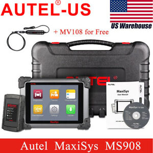 Us Autel Maxisys Ms908 Automotive Diagnostic Scanner Ecu Coding mv108 Maxivideo