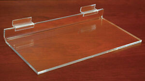 Acrylic Display Shelf Slatwall Retail Clear 12 x4 4 x1 4 Lot Of 12 New
